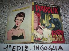 DIABOLIK PRIMA 1° SERIE ORIGINALE N.12 DEL 1963 INGOGLIA OTTIMO TIPO KRIMINAL