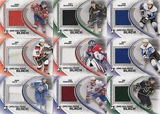 18 different 2011-12 ITG Heroes Prospects Hockey Game-Used Black Jersey Card Lot