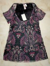 NWT Sweet Pea Stacy Frati MARLEY BERRY Scoopneck Top Small