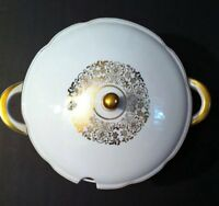 Bavaria Winterling White China Gold Floral Trim SOUP TUREEN 2 1/2 qt WIG633