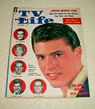 Rare ELVIS PRESLEY ON COVER December 1958 TV PICTURE LIFE MAGAZINE Scarce VG