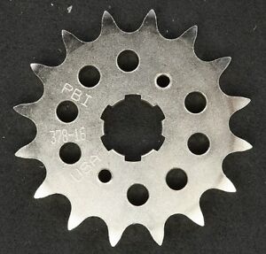 PBI - 378-16 -  Front Countershaft Sprocket, 16T - Made In USA