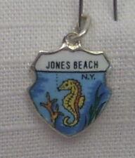 Vintage REU Silver Plated/Enamel Jones Beach, New York - Sea Horse Charm New