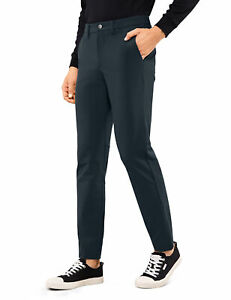 CRZ YOGA Men's Pants Skinny Stretch Slim Casual Quick Dry with Side Pocket 32 in