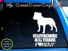 Staffordshire Bull Terrier Parent(S) - Vinyl Decal Sticker / Color Choice