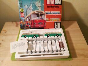 Brawa H0 6102 Trolleybus mit Anhänger in grün sehr selten NEU aus Ladenfund