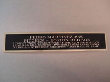 Pedro Martinez Red Sox Autograph Nameplate For A Baseball Photo Or Case 1.5 X 8