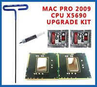 Pair Delidded Intel Xeon 3.46GHz X5690 IHS Removed 2009 4,1 Mac Pro Upgrade Kit