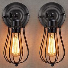 2Set E27 Vintage klassisch Wandlampe Wandleuchte Metall Antik-Stil Lampenfassung