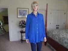 New Zara Cobalt Ruffle Shirt Size L