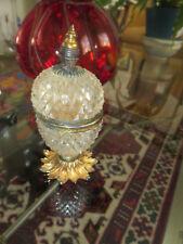 French Cut Crystal Gilt Bronze Cigarette Lighter - Baccarat Depose