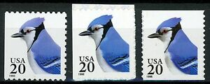 Blue Jay Complete Set of 3 MNH Scott's 2483 3048 and 3055 See Writeup