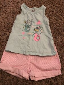 Gap H&M Size 5 Mermaid Outfit NWT Shorts