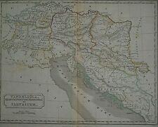 Authentic Vintage 1844 Historical Map ~ Vindelicia - Roman Empire ~ Free S&H