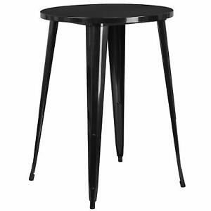 Flash Furniture 30'' Round Metal Indoor-Outdoor Bar Height Table NEW