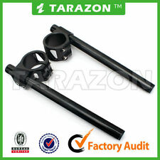 Tarazon billet aluminium BLACK 33mm clip on handlebars. cafe racer.