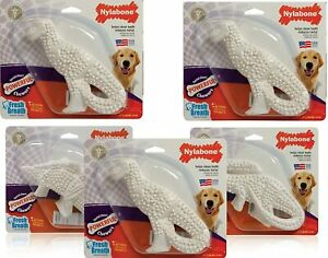 (5 Pack) Nylabone Durable Dental Dinosaur  Dog Chew, Regular, Assorted Shapes