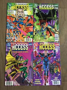 DC MARVEL ALL ACCESS COMIC SET # 1-4 1996 NEWSSTAND COPIES RON MARZ