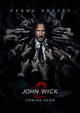 John Wick Chapter Two Movie Fabic Silk Poster 24in*36in Wall Home Decor 002