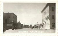 Orland CA California Street Scene Real Photo Postcard