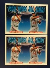 1993 Topps #406 KIRBY PUCKETT & LARRY WALKER All Stars Lot 2 Twins Expos