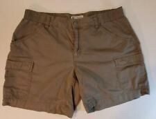 Columbia Womens Cargo Shorts Sz Medium Brown Cotton EUC