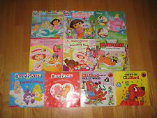 Lot of 10 Children's TV Show Themed ~ Beginning Readers Books~Dora~CareBares