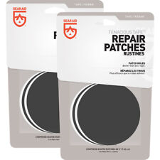 Gear Aid tenaz Cinta Reparación Parches 2-Pack-Transparente/Negro