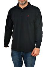 MCS Marlboro Classics Mens Casual Shirt Long Sleeved Polo BLACK M 100% COTTON