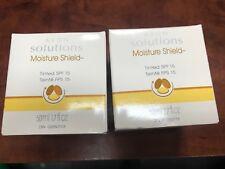 2 Avon Solutions tinted moisture shield spf 15 new in jars 1.7 oz $8 USA Ship