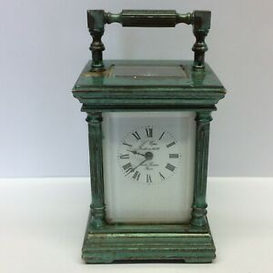 VINTAGE MINIATURE L'EPEE VENITIENNE CARRIAGE CLOCK 11 JEWELS WORKING ORDER