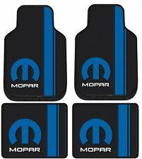 Mopar Front Rear Rubber Floor Mats Logo 4 Pcs Set Truck Car Hemi R/T Challenger