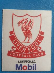 Mobil Football Club Badges Silk 1983 Liverpool
