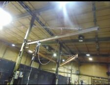 Handling Systems 1 Ton Column Mounted Jib Crane 20 Long With 1 Ton Air Hoist