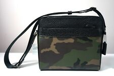 Coach Charles Camo Pebble Leather Camera Crossbody Bag F29052