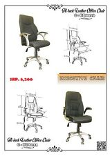 hi-back leather executive chair with adjustable arm