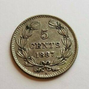 Nicaragua 1887H 5 Centavos KM5 XF+