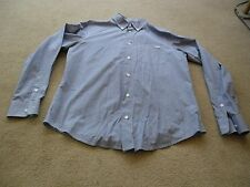 Men's Armani Jeans Blue & White Check Long Sleeve Shirt - Size Small
