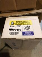 """1"""" Arlington Cable Cord Connector Ideal For #10 PV Cable UV Rated Non Metallic"""