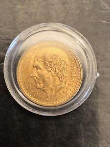 1945 Mexico 2.5 Pesos .900 Gold Estados Unidos Mexicanos
