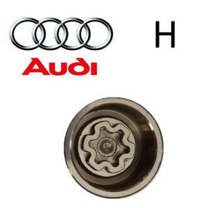 Audi New Locking Wheel Nut Key Letter H, Code 808