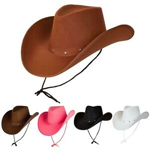 Texas Cowboy Wild West Rodeo Mens Ladies Fancy Dress Accessory Hat New