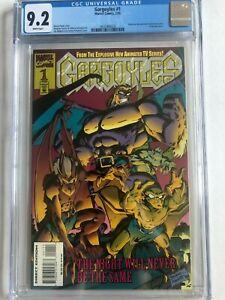 Gargoyles #1 CGC 9.2 Comic Book Embossed Cover   Disney, Marvel, 1995