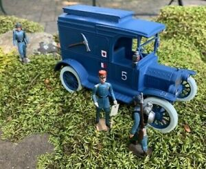 KING & COUNTRY Lead Toy Soldiers WW1 FRENCH ARMY TRUCK 1/30 scale  Mignot