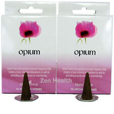 30 X OPIUM Incense/Fragrance/Joss Cones and Holder Relaxing/Calming Insense