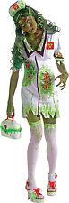 Womens Biohazard Zombie Nurse Halloween Fancy Dress Costume Size 12 - 14 P7813