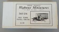 Jordan  Highway Miniatures HO 360-216 1925 Ford Panel Truck