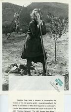 GERALDINE PAGE LEANS ON HOE WHAT EVER HAPPENED TO AUNT ALICE? 1972 ABC TV PHOTO