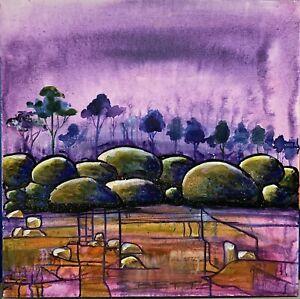 SUE BETTS ART 'River Rocks'  Original Abstract Painting