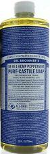 25 Oz Dr. Bronner's Hemp Peppermint Castile Magic Soap Made W/ Organic Oils